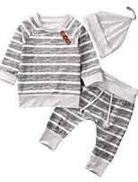 Недорогие -малыш Мальчики На каждый день / Активный Однотонный / С принтом С принтом Длинный рукав Обычный Набор одежды Серый