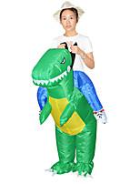 Недорогие -Динозавр T-Rex Надувной костюм Подростки Муж. Хэллоуин Хэллоуин Фестиваль / праздник Вискоза / полиэфир Зеленый Муж. Жен. Карнавальные костюмы / трико / Комбинезон-пижама / Руководство пользователя