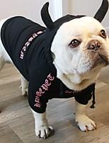 Недорогие -Собаки Коты Животные Костюмы Комбинезоны Одежда для собак Цитаты и выражения Черный Розовый Полиэстер Костюм Назначение Зима Хэллоуин