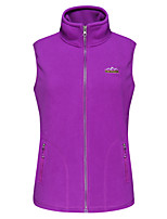 cheap -Women's Hiking Fleece Vest Winter Outdoor Windproof Fleece Lining Warm Comfortable Vest / Gilet Jacket Top Fleece Single Slider Climbing Camping / Hiking / Caving Winter Sports Violet / Purple / Red