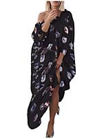 Недорогие -Жен. С летящей юбкой Платье - Радужный Средней длины
