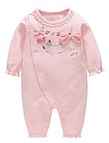 Недорогие -малыш Девочки Уличный стиль С принтом Длинный рукав 1 предмет Розовый