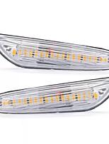 Недорогие -2 шт. Светодиодные боковые габаритные огни лампа указателя поворота янтарная пара для BMW E82 E88 E60 E61 E90 E91 E92 E46