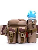 Недорогие -4 L Заплечный рюкзак Сумка на пояс Быстровысыхающий Пригодно для носки На открытом воздухе Охота Рыбалка Пешеходный туризм Полиэстер Черный Три песочного цвета Камуфляж Серый