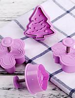 Недорогие -4шт кремнийорганическая резина Необычные гаджеты для кухни Десертные инструменты Инструменты для выпечки