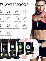 cheap -Smartwatch Digital Modern Style Sporty Silicone 30 m Water Resistant / Waterproof Heart Rate Monitor Bluetooth Digital Casual Outdoor - Black White Purple
