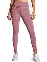 Недорогие -Жен. С высокой талией Штаны для йоги Сплошной цвет Пыльная роза Фитнес Тренировка в тренажерном зале Велоспорт Колготки Спортивная одежда / Эластичность / Обтягивающие / Дышащий / Влагоотводящие