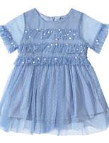 Недорогие -Дети (1-4 лет) Девочки Однотонный Платье Розовый