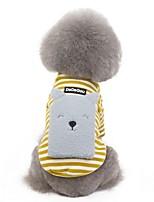 Недорогие -Собаки Коты Животные Толстовка рюкзак Одежда для собак В полоску Животное Желтый Красный Кофейный Полиэстер Костюм Назначение Зима Хэллоуин