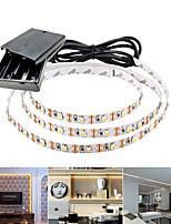 Недорогие -5м гибкие светодиодные полосы 300 светодиодов smd3528 5мм теплый белый / белый / красный непромокаемый / вечеринка / декоративные батарейки 1 комплект