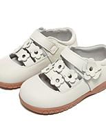 Недорогие -Девочки Удобная обувь Кожа На плокой подошве Маленькие дети (4-7 лет) Белый Осень
