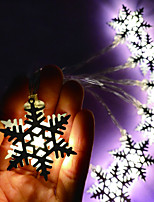 Недорогие -3м струнные светильники 20 светодиодов железная снежинка / светодиодные рождественские огни для вечеринки по случаю дня рождения / теплые белые / rgb / белые креатив / вечеринки / декоративные aaa на