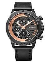 Недорогие -Муж. Спортивные часы Японский Японский кварц Спортивные Стильные Натуральная кожа Черный 30 m Защита от влаги Календарь Cool Аналоговый На каждый день Мода - Серебро + серый Черный / оранжевый