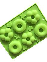 Недорогие -силиконовые формы для тортов пончик формы для выпечки круглой формы цветок формы для поделок мыло формы желе пудинг формы