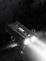 Недорогие -Светодиодная лампа Велосипедные фары Передняя фара для велосипеда LED Велоспорт Водонепроницаемый Вращающийся 18500 1400 lm Перезаряжаемая батарея Белый / Поворот на 360° / Алюминиевый сплав / IPX 6