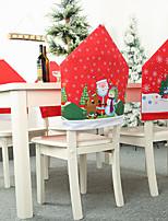 Недорогие -1 шт. Декоративный мультфильм милый рождественский стиль шляпы стул задняя крышка сиденья / рождественские украшения рождество / рождественские украшения мультфильм / партия / декоративные