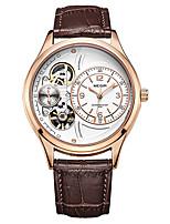 Недорогие -MEGIR Муж. Спортивные часы Кварцевый Спортивные Стильные Натуральная кожа Черный / Коричневый 30 m Защита от влаги Новый дизайн Повседневные часы Аналоговый На открытом воздухе Мода -  / Два года