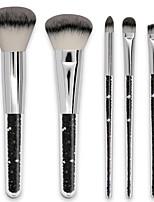 Недорогие -профессиональный Кисти для макияжа 5 предметов Мягкость Новый дизайн удобный Алюминиевый сплав 7005 за Косметическая кисточка