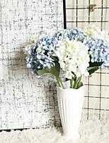 Недорогие -Искусственные Цветы 1 Филиал Классический Деревня Пастораль Стиль Гортензии Вечные цветы Букеты на стол
