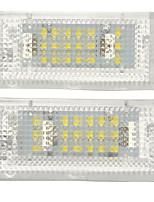 Недорогие -18 smd светодиодные огни номерного знака без ошибок 1.44 Вт белая пара для BMW 3 серии E46 4D седан 5D универсал