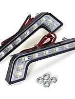 Недорогие -L форма 5 Вт из светодиодов drl дневные ходовые огни противотуманные фары белый для бензина c e s