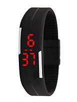 Недорогие -Муж. электронные часы Цифровой Спортивные Стильные Pезина Нет Светодиодная лампа Повседневные часы Цифровой На каждый день Мода - Черный Белый Пурпурный Один год Срок службы батареи