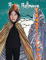 Недорогие -Динозавр Товары для Хэллоуина Детские Взрослые Мальчики Хэллоуин Хэллоуин Фестиваль / праздник полиэфирное волокно Небесно-голубой / Золотой / Пурпурный Карнавальные костюмы / Костюм