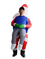Недорогие -Дед Мороз Надувной костюм Взрослые Муж. Рождество Хэллоуин Фестиваль / праздник Вискоза / полиэфир Красный Муж. Жен. Карнавальные костюмы / трико / Комбинезон-пижама / Дополнительная батарея коробка