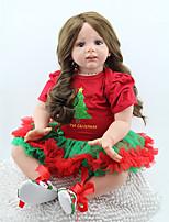 Недорогие -NPK DOLL Куклы реборн Куклы Девочки 22 дюймовый Безопасность Подарок Очаровательный Детские Универсальные / Девочки Игрушки Подарок