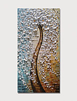 Недорогие -Hang-роспись маслом Ручная роспись - Цветочные мотивы / ботанический Modern Включите внутренний каркас
