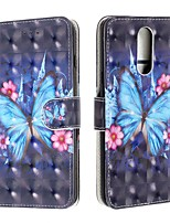 cheap -Case For LG V50 / LG Stylo 5 / LG K40 Wallet / Card Holder / Flip Full Body Cases Butterfly PU Leather For LG G7/G7-ThinQ/G8