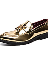 cheap -Men's Summer / Fall Classic / Casual Daily Office & Career Loafers & Slip-Ons Faux Leather Non-slipping Wear Proof Black / Gold / Tassel