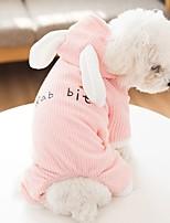 Недорогие -Собаки Коты Животные Костюмы Комбинезоны Одежда для собак Контрастных цветов Цитаты и выражения Розовый Серый Полиэстер Костюм Назначение Зима Хэллоуин