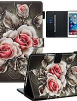 Недорогие -Кейс для Назначение Apple iPad Air / iPad (2018) / iPad Air 2 Кошелек / Бумажник для карт / С узором Чехол Цветы Кожа PU / ТПУ