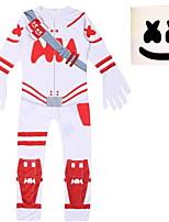 Недорогие -Дети Мальчики Уличный стиль С принтом Длинный рукав Набор одежды Белый
