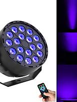 Недорогие -18 бусин светодиодные панели уф-фиолетовый панель лампы пульт дистанционного управления крашения лампы светодиодные сценические лампы фиолетовый панель лампы лазерная лампа ктв