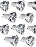 Недорогие -10шт 6 Вт светодиодный прожектор 400 лм gu10 e26 / e27 3 светодиодные шарики высокой мощности светодиодные декоративные теплый белый холодный белый 85-265 В