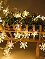 Недорогие -6 м 40 светодиодов снежинка гирлянды снежная фея украшения гирлянды на елку новый год комната валентина батарея