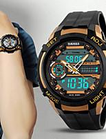 Недорогие -Муж. Спортивные часы Японский Цифровой Искусственная кожа Черный 30 m Защита от влаги Творчество Новый дизайн Цифровой На каждый день Новое поступление - Черный Оранжево-красный Оранжевый / Два года