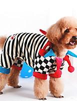 Недорогие -Собаки Комбинезоны Одежда для собак Полоски Черный Полиэстер Костюм Назначение Зима Праздник Хэллоуин