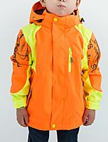 Недорогие -Мальчики Девочки Куртка для туризма и прогулок на открытом воздухе Осень Зима Водонепроницаемость С защитой от ветра Теплый Удобный Верхняя часть