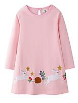 Недорогие -Дети Девочки Симпатичные Стиль Животное Платье Розовый