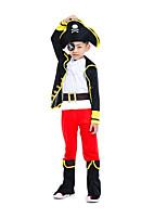 Недорогие -Пираты Товары для Хэллоуина Детские Мальчики Хэллоуин Хэллоуин Фестиваль / праздник Вязанная Черный Карнавальные костюмы / Костюм