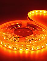 Недорогие -5 метров Гибкие светодиодные ленты / Гирлянды 300 светодиоды 5050 SMD 1 адаптер x 12V 2A Оранжевый Творчество / Для вечеринок / Декоративная 85-265 V 1 комплект
