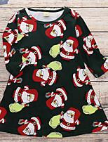 Недорогие -Дети (1-4 лет) Девочки Рождество Платье Черный