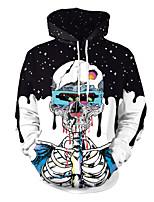 Недорогие -Скелет / Череп Косплэй Kостюмы Взрослые Муж. Стиль Хэллоуин Хэллоуин Фестиваль / праздник Полиэстер Черный Муж. Карнавальные костюмы / Кофты