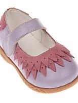 Недорогие -Девочки Удобная обувь Кожа На плокой подошве Маленькие дети (4-7 лет) Черный / Лиловый Лето