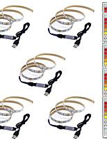 Недорогие -1m Гибкие светодиодные ленты / RGB ленты / Пульты управления 60 светодиоды SMD5050 1 пульт дистанционного управления 44Keys Разные цвета Творчество / USB / Для вечеринок 5 V 5 шт.