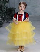 Недорогие -Сказка Костюмы Санта Клауса Принцесса Платья Девочки Косплей из фильмов Хэллоуин Рождество Желтый Хэллоуин