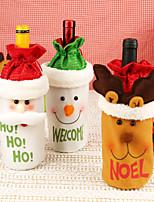 Недорогие -Мешки для вина / Подарочные мешки / Декоративные наборы Праздник / Семья Нетканый материал Мультипликация / Для вечеринок Рождественские украшения